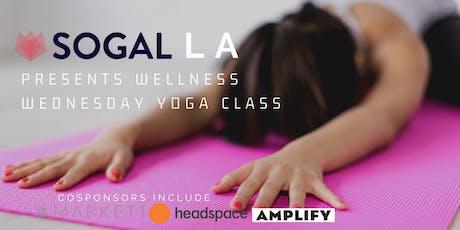 [Date Change] SOGAL LA Presents: Wellness Wednesday Rooftop Yoga tickets