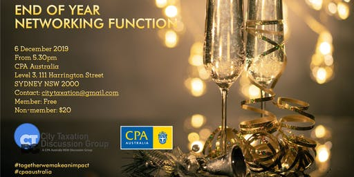 CTDG December 2019 - End of Year Networking Function