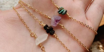 Crystal Bar Necklace Workshop with Eaarthbones + Makers of Maryland