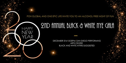Black and White New Year's Eve Gala