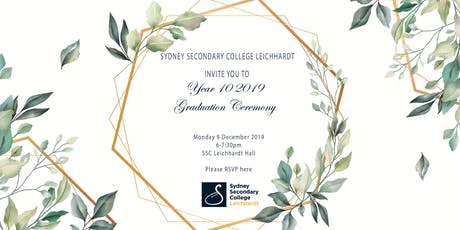 SSCL Year 10 Graduation tickets