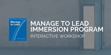 "POWER UP!  Palo Alto ""Manage to Lead"" Immersion Program tickets"