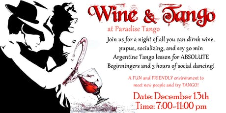 Wine & Tango - Dance and Party tickets