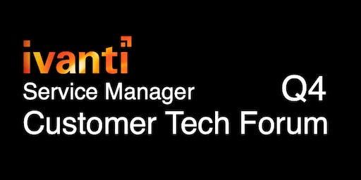 Ivanti Service Manager Q4 Forum