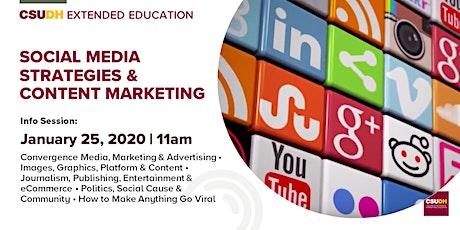 Info Session: Social Media Strategies & Content Marketing | CSUDH tickets