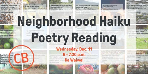 Civil Beat Neighborhood Haiku Poetry Reading