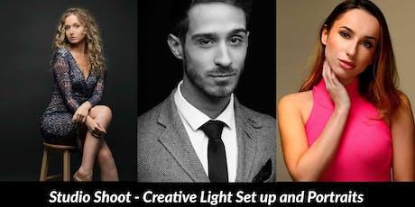 Model Studio Shoot- Creative Light set up and portraits tickets