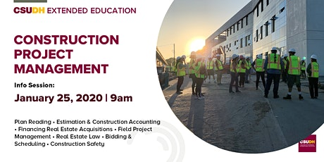 Info Session: Construction Project Management | CSUDH tickets