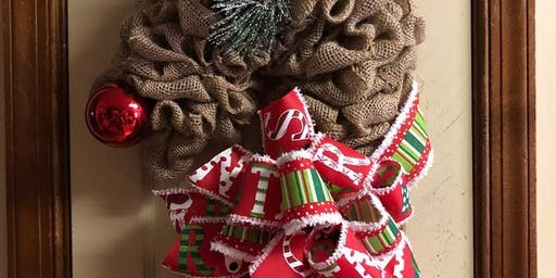 Craft Night at Old Beach Tavern - Reindeer Wreath