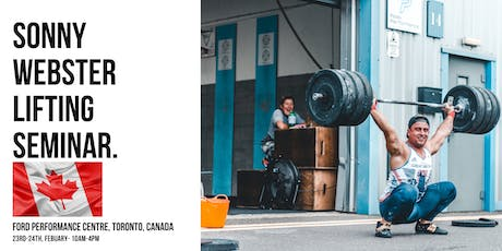 Sonny Webster- Olympic lifting Seminar Toronto tickets