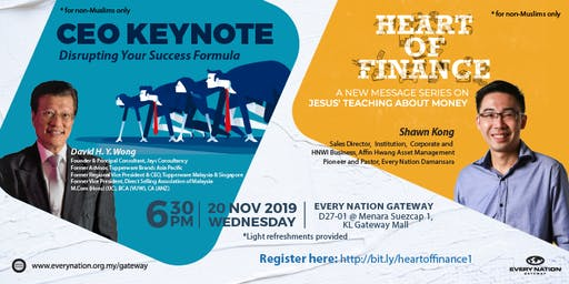 CEO Keynote: Disrupting Our Success Formula & Heart of Finance