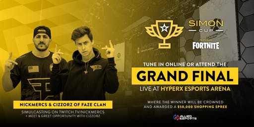 Simon Cup Grand Finals Featuring FaZe Clan's Cizzorz, Gwidt, and Clipz!
