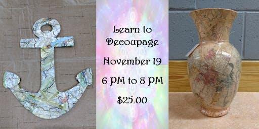 Learn to Decoupage