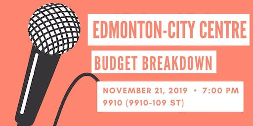 Edmonton-City Centre Budget Breakdown