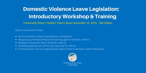 Domestic Violence Leave Introductory Workshop & Training