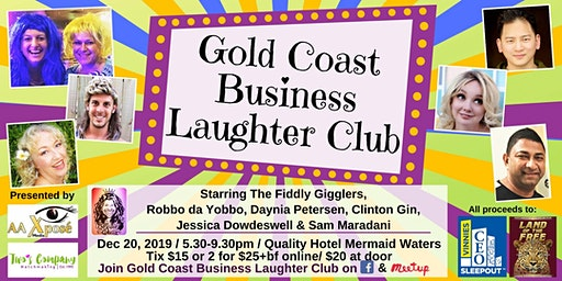 Gold Coast Business Laughter Club Comedy Extravaganza