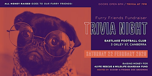 Furry Friends Fundraiser  Trivia Night (Tickets purchased in tables of 10)