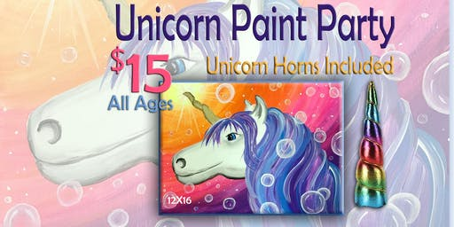Unicorn Paint Party all ages