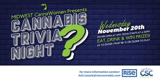Midwest CannaWomen Presents: Cannabis Trivia Night! Sponsored by: RiSE and Cleveland School of Cannabis