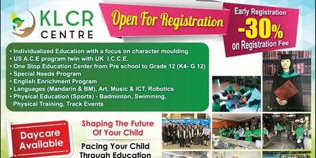 OPEN DAY KLCRC - PRIVATE LEARNING CENTER tickets