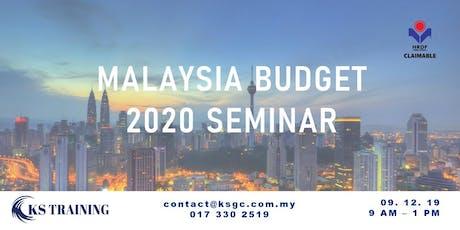 Budget 2020 Seminar: Insights and Highlights [KL Event] tickets