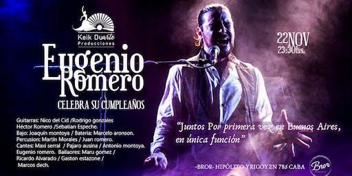 Eugenio Romero, celebra su cumpleaños.