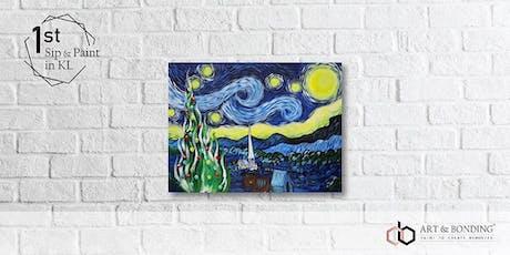 Sip & Paint Night : Starry Night Xmas Edition by Van Gogh tickets