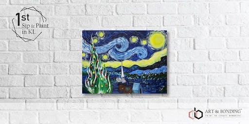 Sip & Paint Night : Starry Night Xmas Edition by Van Gogh