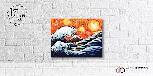 Sip & Paint Night : The Great Wave Off Kanagawa by Van Gogh