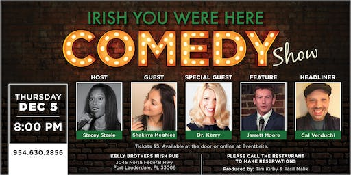Comedy Night at Kelly Brothers! December 5th
