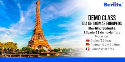 Demo Class: Día de idiomas europeos (aprende alemán, francés e inglés)