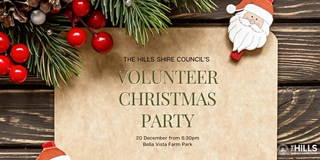The Hills Shire Council Volunteer Christmas Party tickets