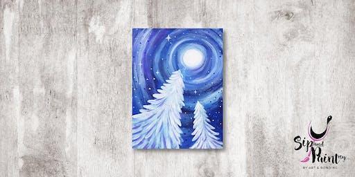 Sip & Paint MY @ Hubba Mont Kiara : White Christmas