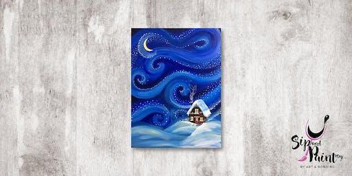 Sip & Paint MY @ Hubba Mont Kiara : Starry Christmas