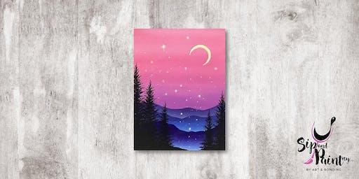 Sip & Paint MY @ Hubba Mont Kiara : Charming Hills