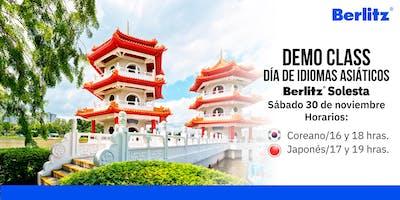 Demo Class: Día de Idiomas Asiáticos (Aprende Japonés y Coreano)