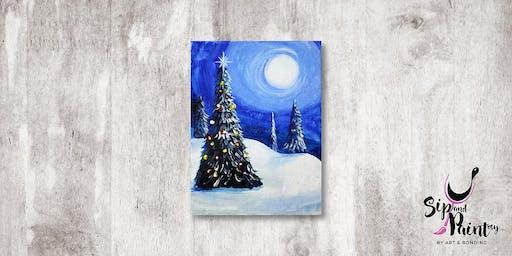 Sip & Paint MY @ Ampang :  Winter Christmas
