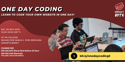 ONE DAY CODING SERIES: Learn to Code Your Own Website [PAID CLASS]