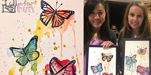 Watercolour Butterflies (Dine in)