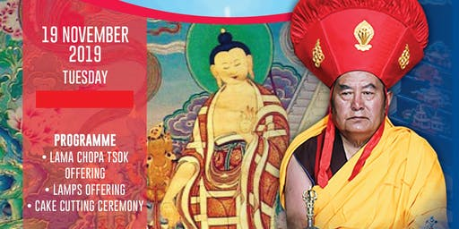 Celebration of Buddha's Descent from The Heaven of 33 and H.H. Drikung Kyabgon Chungtsang Rinpoche's Birthday 2019