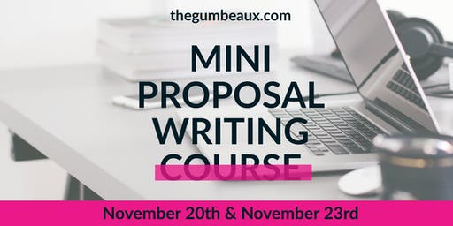 Mini Proposal Writing Course