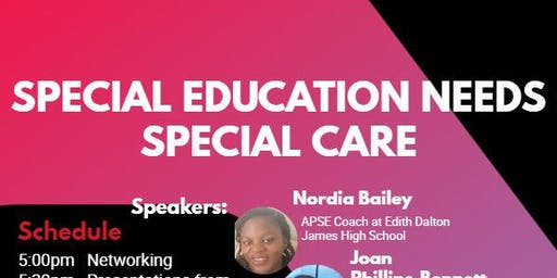 SPECIAL EDUCATION NEEDS SPECIAL CARE
