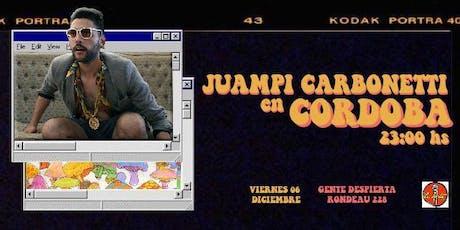 Juampi Carbonetti en Córdoba entradas