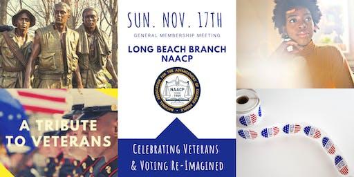 NAACP LB Branch General Membership Meeting: Celebrating Veterans & Voting