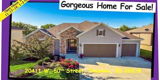 Open House Sun. 11-17-19, 1PM-3PM, 20411 W. 80th St, Shawnee, KS 66218
