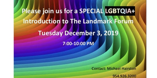 Special LGBTQIA+ Introduction to the Landmark Forum
