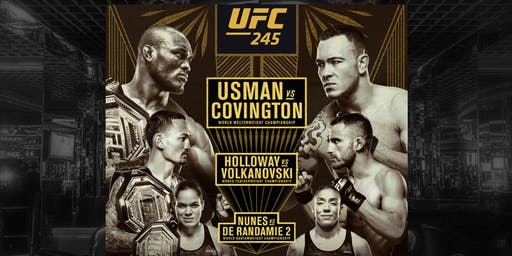 UFC 245:  3 Title Fights in One Night!!