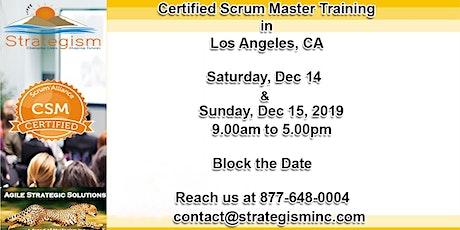 Certified Scrum Master (CSM) Training in Los Angeles-Dec 14-15,2019 tickets