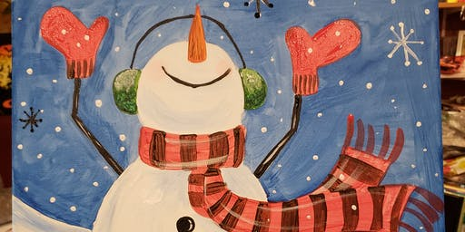 Snowman Paint & Sip At Georgie O's