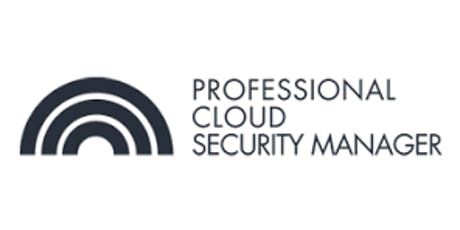 CCC-Professional Cloud Security Manager 3 Days Virtual Live Training in Calgary tickets